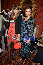 Left to right, MARIA GULYAEVA and ELSINA KHAYROVA at a lunch hosted by Mary Katranzou to celebrate her LFW AW 2016 collection at Mark's Club, London on 23rd February 2016.