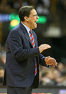 December 31 2012: Indiana Hoosiers head coach Tom Crean yells to his team during the first half of the NCAA basketball game between the Indiana Hoosiers and the Iowa Hawkeyes at Carver-Hawkeye Arena in Iowa City, Iowa on Monday December 31, 2012. Indiana defeated Iowa 69-65.