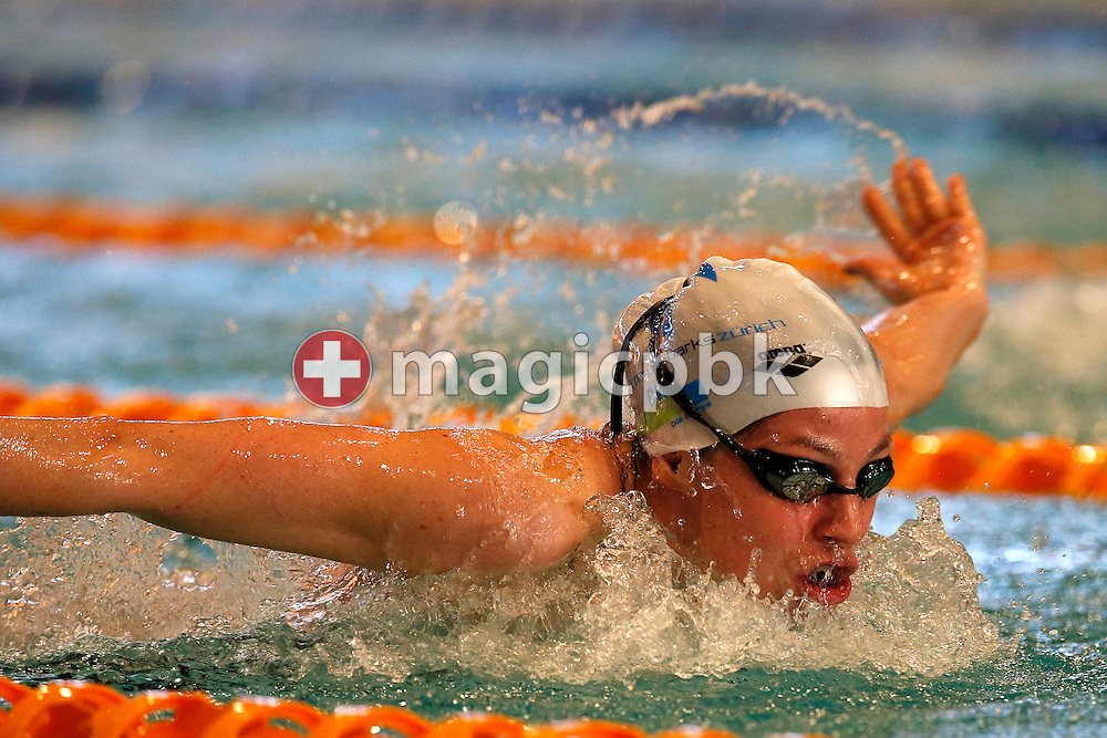 LIMM's Danielle VILLARS of Switzerland competes in the women's 200m Butterfly Final during the Swiss Swimming Championships at the Hallenbad Oerlikon in Zuerich, Switzerland, Friday, March 28, 2014. (Photo by Patrick B. Kraemer / MAGICPBK)