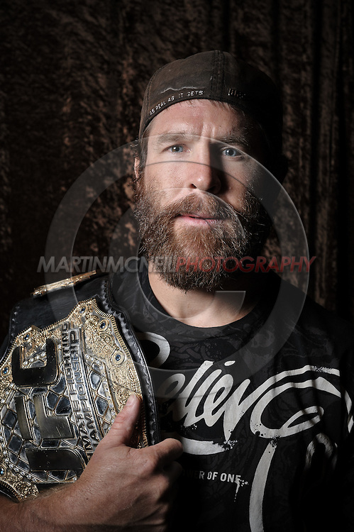 Portrait of mixed martial arts athlete Evan Tanner