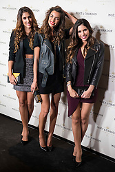 "02.12.2015, Madrid, ESP, Moet & Chandon Party, OpenTheNow, im Bild Daniela Ospina (L), Joana Sanz (C) and Melissa Jimenez attends to the // Red Carpet of the party ""OpenTheNow of Moet & Chandon in Madrid, Spain on 2015/12/02. EXPA Pictures © 2015, PhotoCredit: EXPA/ Alterphotos/ BorjaB.hojas<br /> <br /> *****ATTENTION - OUT of ESP, SUI*****"