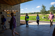 A group of people walk into the entrance of Hush Heath Winery in Staplehurst, Kent, England, UK. (photo by Andrew Aitchison / In pictures via Getty Images)