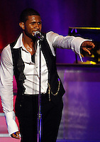 "Usher performs on his ""Ladies Only"" Tour in Washington, DC at the Warner Theater"