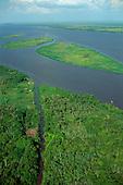Amazon basin: geography, hydrology; floodplain, rainforest, aerials