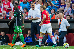 Ridgeciano Haps of Feyenoord, coach John van den Brom of AZ, Jonas Svensson of AZ during the Dutch Toto KNVB Cup Final match between AZ Alkmaar and Feyenoord on April 22, 2018 at the Kuip stadium in Rotterdam, The Netherlands.