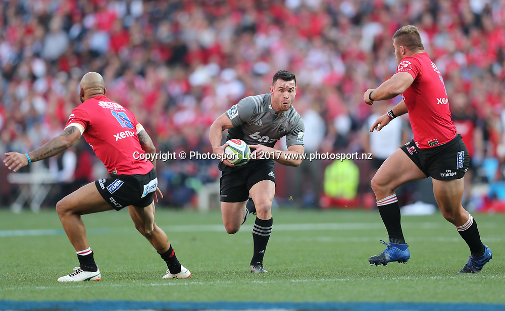 Ryan Crotty of the Crusaders  during the 2017 Super Rugby Final between the Lions and Crusaders at Ellis Park, Johannesburg on 05 August 2017 ©Gavin Barker/BackpagePix / www.photosport.nz