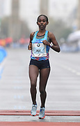Ruti Aga (ETH) places second in the women's race in 2:20:41 in the 44th Berlin Marathon in Berlin, Germany on Sunday, September 24, 2017. (Jiro Mochizuki/Image of Sport)