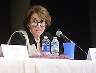 UPPER MORELAND, PA - MAY 14:  Marjorie Margolies answers a question during a 13th Congressional District Democratic Debate May 14, 2014 at Upper Moreland high school in Upper Moreland, Pennsylvania. The Pennsylvania democratic primary is May 20.(Photo by William Thomas Cain/Cain Images)