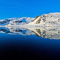 Alberto Carrera, Holmiabukta Glacier, Holmiabukta Bay, Raudefjord, Albert I Land, Arctic, Spitsbergen, Svalbard, Norway, Europe