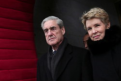 May 17, 2017 - FILE PHOTO - The Justice Department on Wednesday named ROBERT MUELLER as special counsel to oversee the department's investigation into Russian meddling in the 2016 election. Mueller III served as FBI director from 2001 through 2013. Pictured: February 6, 2013 - Washington, District of Columbia, United States of America - Federal Bureau of Investigation (FBI) Director Robert Mueller (L) arrives for the presidential inauguration on the West Front of the U.S. Capitol January 21, 2013 in Washington, DC.   Barack Obama was re-elected for a second term as President of the United States. (Credit Image: © Win Mcnamee/CNP via ZUMA Wire)