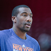 06 October 2010: New York Knicks forward Amare Stoudemire #1 is seen prior to the Minnesota Timberwolves 106-100 victory over the New York Knicks, during 2010 NBA Europe Live, at the POPB Arena in Paris, France.