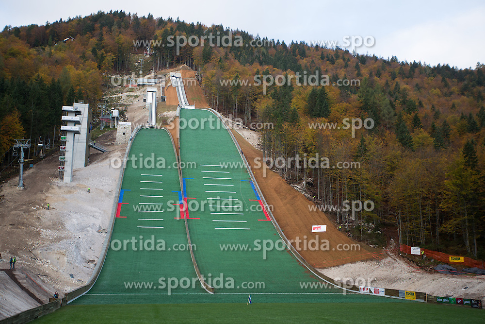 during Slovenian summer national championship and opening of the reconstructed Bloudek's hill in Planica on October 14, 2012 in Planica, Ratece, Slovenia. (Photo by Matic Klansek Velej / Sportida)