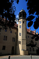 A vertical image of the exterior of the home of Martin Luther<br /> Photo by Dennis Brack