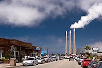 Embarcadero and Power Plant, Morro Bay, California