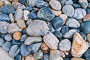 Pebbles on Sand Dollar Beach, Los Padres National Forest, Big Sur, California