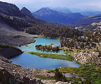 I set up my large format film camera to shoot this spectacular view of Lake Barney and Mammoth Mountain from Duck Pass trail.