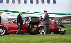 Description/Caption:<br /> Celtic directors arrive via private jet at Glasgow Airport today ahead of the Old Firm derby between Celtic and Rangers at Parkhead today.