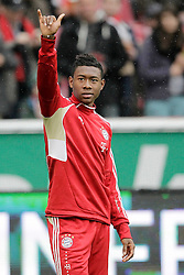 05.05.2012, Rhein Energie Stadion, Koeln, GER, 1. FC Koeln vs FC Bayern Muenchen, 34. Spieltag, im Bild David ALABA (FC Bayern Muenchen - 27) gruesst einen Fan // during the German Bundesliga Match, 34th Round between 1. FC Cologne and Bayern Munich at the Rhein Energie Stadium, Cologne, Germany on 2012/05/05. EXPA Pictures © 2012, PhotoCredit: EXPA/ Eibner/ Gerry Schmit..***** ATTENTION - OUT OF GER *****