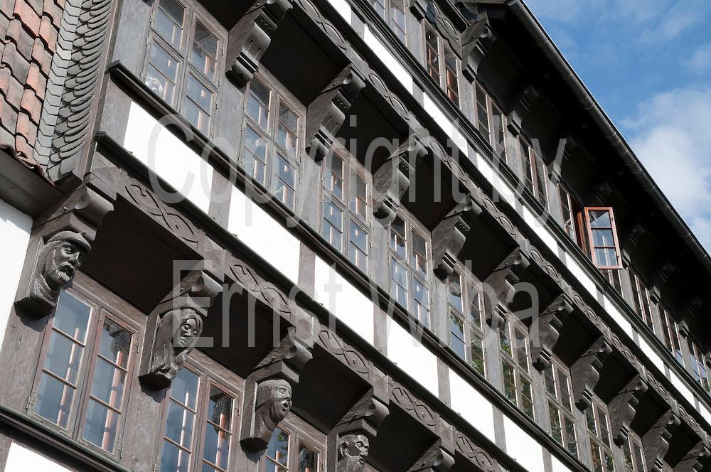 Martiniviertel, Fachwerkhaus Michaelishof, , Braunschweig, Niedersachsen, Deutschland.| .Braunschweig, Martini Quarter, Lower Saxony, Germany.