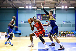 Marcus Delpeche of Bristol Flyers - Mandatory by-line: Robbie Stephenson/JMP - 05/10/2018 - BASKETBALL - University of Worcester Arena - Worcester, England - Bristol Flyers v Worcester Wolves - British Basketball League