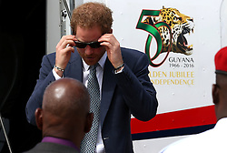 Prince Harry arrives in Guyana on the final stop of his 15-day tour of the Caribbean.