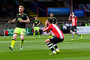 Lloyd James (4) of Exeter City shoots high over the bar and holds his hands to his face in shock during the EFL Sky Bet League 2 match between Exeter City and Cambridge United at St James' Park, Exeter, England on 5 August 2017. Photo by Graham Hunt.