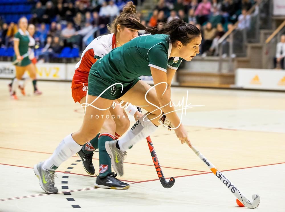 ROTTERDAM  - NK Nacompetitie Zaalhockey . Rotterdam-MOP dames. R'dam promoveert.  Lisa van Baaren.   COPYRIGHT KOEN SUYK