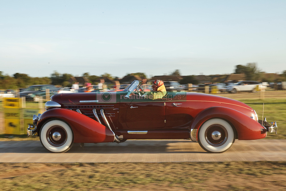 Sep 11, 2016 - Chichester, England, United Kingdom - Vintage cars in the car park for the Goodwood Revival vintage sports car race. (Credit Image: © Mark Avery via ZUMA Wire)