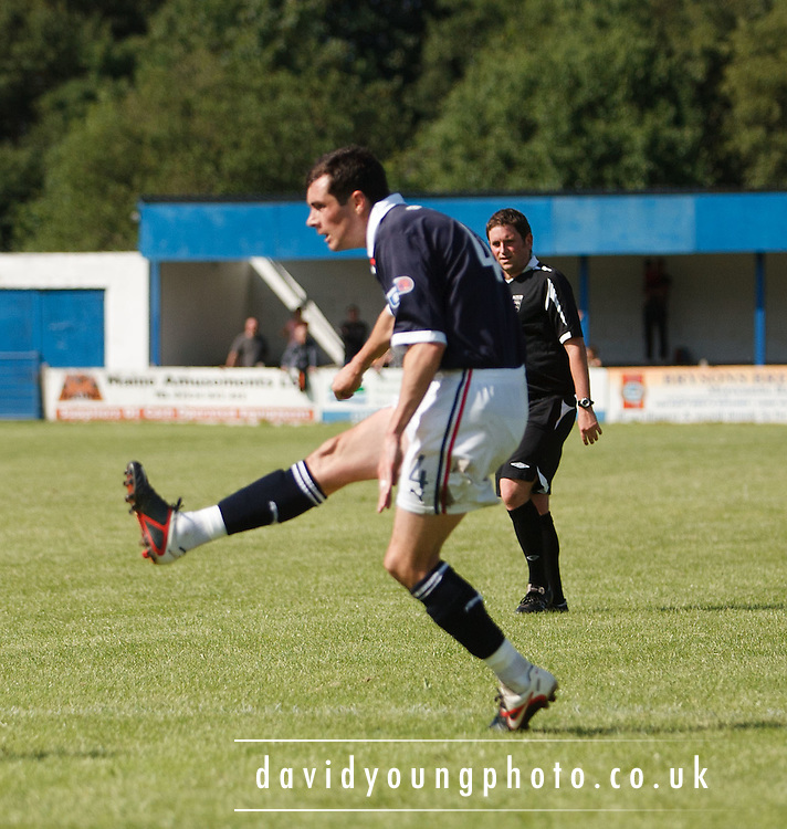 Stephen O'Donnell scores Dundee's winner - Lancaster City v Dundee, pre-season friendly at the Giant Axe, Lancaster.. - © David Young - 5 Foundry Place - Monifieth - DD5 4BB - Telephone 07765 252616 - email: davidyoungphoto@gmail.com - web: www.davidyoungphoto.co.uk