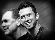 Buster Posey head shot portrait during seatholder appreciation day.<br /> June 27th 2015.<br /> Credit : Glenn Gervot