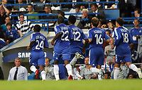 Photo: Chris Ratcliffe.<br /> Chelsea v Glasgow Celtic. Pre Season Friendly. 09/08/2006.<br /> Shaun Wright-Phillips and team mates celebrate scoring for Chelsea to make it 1-1.