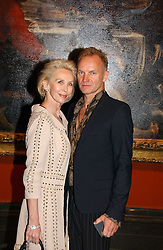 STING and TRUDIE STYLER at an art talk and dinner hosted by Louis Vuitton at The National Gallery, Trafalger Square, London on 25th May 2006.