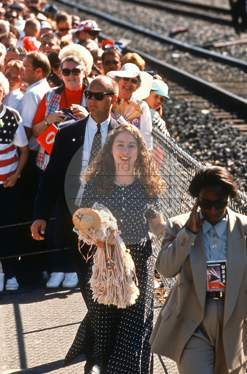 Chelsea Clinton daughter of President Bill Clinton during a campaign stop for his re-election in Ashland, KY.