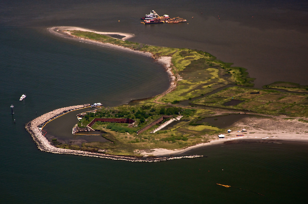 Fort Livingston, Grand Terre Isle, Louisiana, USA (View North)