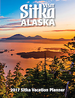 Cover of the 2017 Sitka Vacation Planner by Blaine Harrington III.