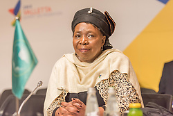Nov. 12, 2015 - Valletta, Malta - Valletta, Malta.12/11/15:African Union Commission Chairperson Nkosazana Dlamini-Zuma pictured on the second day of the  Valletta summit on migration during the Roundtable at the beginning of the meeting, in Valletta, Malta, on November 12, 2015. EU leaders attending a summit with their African counterparts today approved a 1.8-billion-euro trust fund for Africa aimed at tackling the root causes of mass migration to Europe. (Credit Image: © Jonathan Raa/NurPhoto via ZUMA Press)