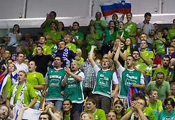 Fans during basketball match between National teams of Georgia and Slovenia in Round 1 at Day 4 of Eurobasket 2013 on September 7, 2013 in Arena Zlatorog, Celje, Slovenia. (Photo by Vid Ponikvar / Sportida.com)
