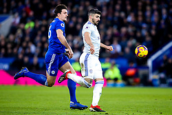 Callum Paterson of Cardiff City takes on Harry Maguire of Leicester City - Mandatory by-line: Robbie Stephenson/JMP - 29/12/2018 - FOOTBALL - King Power Stadium - Leicester, England - Leicester City v Cardiff City - Premier League