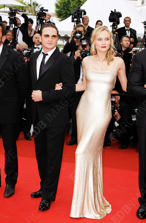 12.MAY.2011. CANNES<br /> <br /> DIANE KRUGER AND BENOIT MAGIMEL ARRIVING ON THE RED CARPET FOR THE SLEEPING BEAUTY PREMIERE AT THE 64TH CANNES INTERNATIONAL FILM FESTIVAL 2011 IN CANNES, FRANCE.<br /> <br /> BYLINE: EDBIMAGEARCHIVE.COM<br /> <br /> *THIS IMAGE IS STRICTLY FOR UK NEWSPAPERS AND MAGAZINES ONLY*<br /> *FOR WORLD WIDE SALES AND WEB USE PLEASE CONTACT EDBIMAGEARCHIVE - 0208 954 5968*