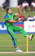 CAPE TOWN, SOUTH AFRICA - 22 February 2008, Johan Louw bowling during the MTN Domestic Championship match between the Nashua Cape Cobras and the Nashua Dolphins held at Sahara Park, Newlands Stadium in Cape Town, South Africa...Photo by Ron Gaunt/SPORTZPICS