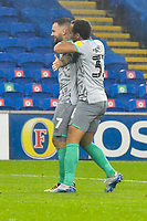 Football - 2019 / 2020 Championship - Cardiff City vs Blackburn Rovers<br /> <br /> Adam Armstrong Blackburn Rovers celebrates scoring his team's third goal with a long range shot<br /> in a match played with no crowd due to Covid 19 coronavirus emergency regulations, at the almost empty Liberty Stadium.<br /> <br /> COLORSPORT/WINSTON BYNORTH