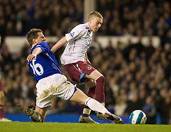 LIVERPOOL, ENGLAND - Saturday, March 22, 2008: Everton's Philip Jagielka and West Ham United's Freddie Sears during the Premiership match at Goodison Park. (Photo by David Rawcliffe/Propaganda)