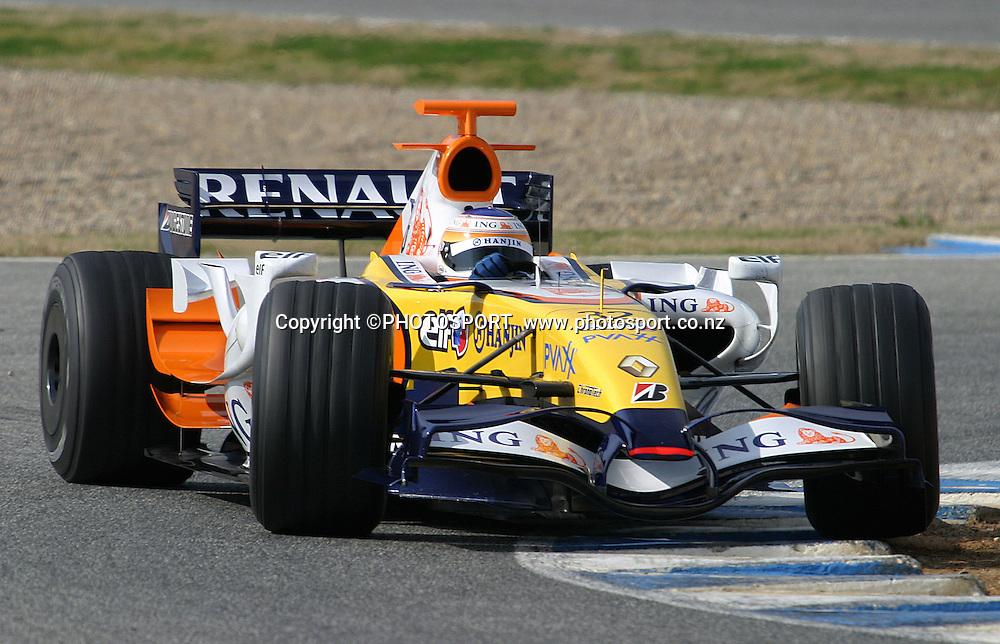 Nelson Piquet Junior (bre) - Renault - Essais Essai - Jerez - 07.02.2007 - Formule1 Formule 1 F1 F 1 - largeur action