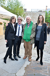 Left to right, CHERRYL COHEN, FRANK COHEN, DAVID BAILEY and CATHERINE BAILEY at a private view in aid of Chickenshed of Julian Schnabel's first UK solo show of paintings for 15 years entitled 'Every Angel Has A Dark Side' held at the Dairy Art Centre, 7a Wakefield Street, Bloomsbury, London on 24th April 2014.