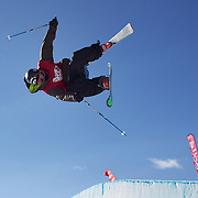 Wing Tai Barrymore, USA, in action in the Men's Halfpipe Finals during The North Face Freeski Open at Snow Park, Wanaka, New Zealand, 3rd September 2011. Photo Tim Clayton..