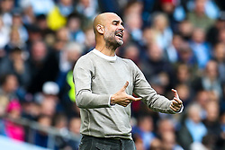 Manchester City manager Pep Guardiola cuts a frustrated figure - Mandatory by-line: Robbie Stephenson/JMP - 06/10/2019 - FOOTBALL - Etihad Stadium - Manchester, England - Manchester City v Wolverhampton Wanderers - Premier League
