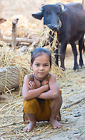 Portrait of a young girl in a rural village in the Terai region of Nepal