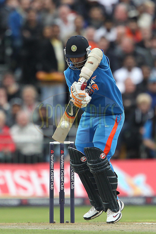 Ajinkya Rahane during the International T20 match between England and India held at The Old Trafford Cricket Ground in Manchester, England on the 31st August 2011...Photo by Ron Gaunt/SPORTZPICS/BCCI