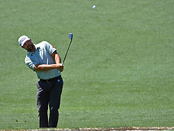 Ryan Moore chips onto the 2nd green during the third round of the Masters Tournament at Augusta National Golf Club in Augusta, Ga., on Saturday, April 8, 2017. (Photo by Jeff Siner/Charlotte Observer/TNS) *** Please Use Credit from Credit Field ***