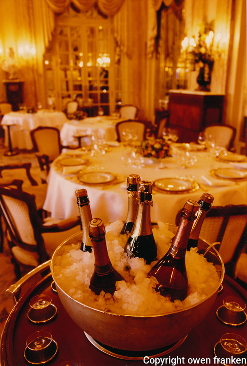 Champagne at Louis XV - Monte Carlo - restaurant of Alain Ducasse